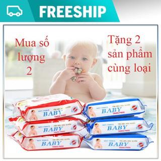 Freeship - Mua số lượng 2 _ Tặng 2 sản phẩm cùng loại - 5 bịch khăn ướt đa năng - km khăn ướt thumbnail