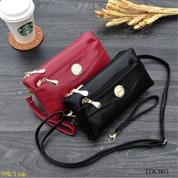 Ví cầm tay nữ thiết kế đơn giản tiện dụng 2 trong 1 vừa làm túi đeo chéo vừa làm ví cầm tay – TDC007