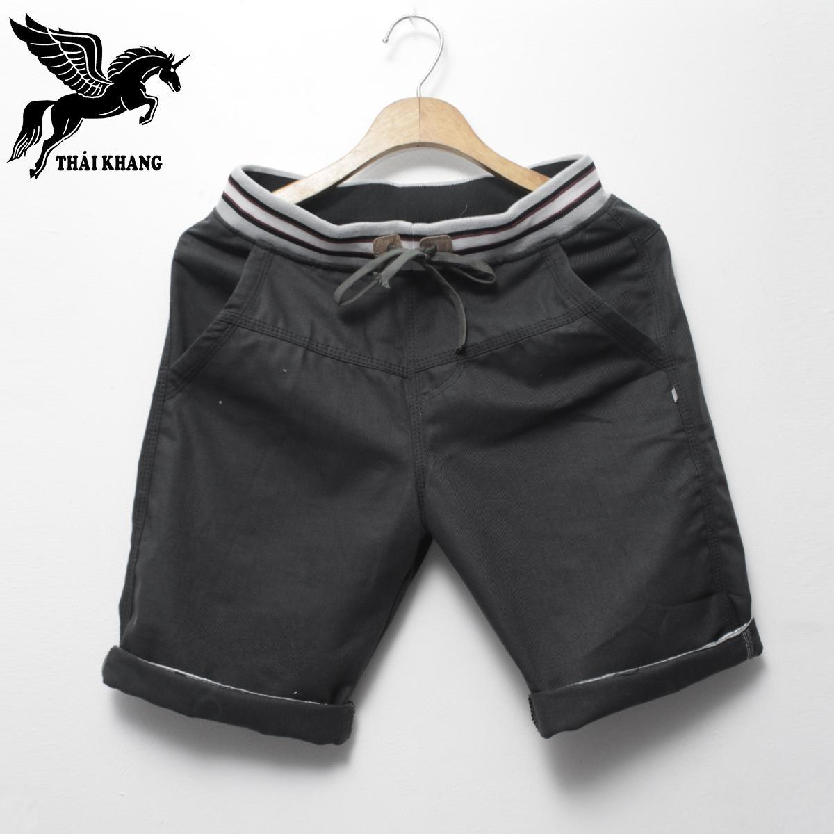 Quần short kaki nam loại lưng thun dáng suông cơ bản size từ 45-75kg