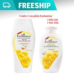 COMBO tắm gội Enchanteur hương nước hoa Deluxe Charming hương thơm quyến rũ nồng nàn