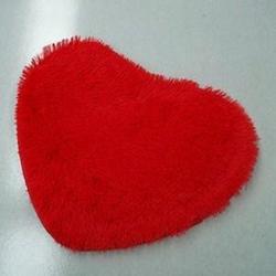 thảm chùi chân hình trái tim - thảm chùi chân hình trái tim