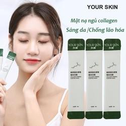[HỘP 20 GÓI] Mặt nạ ngủ collagen YOUR SKIN dạng gel chống lão hóa làm sáng da mặt nạ ngủ dưỡng ẩm mặt nạ ngủ dưỡng trắng mặt nạ nội địa Trung