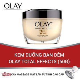 (Tặng thanh massage đẩy tinh chất từ tính) Kem Dưỡng Ban Đêm Olay Total Effects (50g) - TUOL0042CB