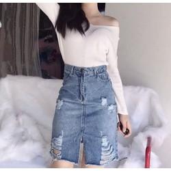 Chân váy jeans nữ cực xinh