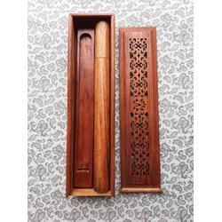 Đồ đốt nhang trầm hương ba món được làm bằng gỗ hương cao cấp