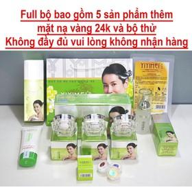 Yiyimei, Bộ mỹ phẩm trị nám trắng da Yiyimei 5in1, Kem trị nám Yiyimei, mỹ phẩm yiyimei - bao gồm mặt nạ và bộ thử - Yiyimei