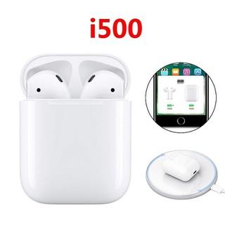 Tai nghe Bluetooth TWS I500 tích hợp cảm biến và định vị với sạc không dây - 353534 thumbnail