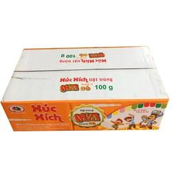 100 cái xúc xích bằng 20 gói  bằng 1 thùng như hình hàng chuẩn công ty dabaco giao bò heo ngẫu nhiên