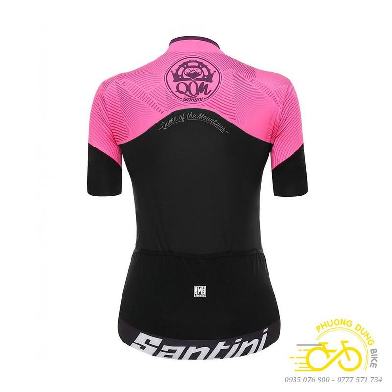 Bộ quần áo thể thao nữ đi xe đạp Santini – Màu Hồng – PK-01396