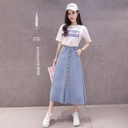 Chân váy jean dài CV5061
