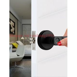 Khóa cửa vân tay kiểu tròn lắp đặt dễ dàng VB01 - Khóa cửa vân tay thông phòng thumbnail