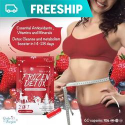 Viên uống giảm cân Detox giảm cần Frozen, Thực phẩm chức năng giảm cân Thái Lan, đốt mỡ giảm thèm ăn, an toàn cho sức khỏe người sử dụng
