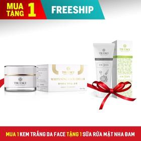 [MUA 1 TẶNG 1] Kem Dưỡng Trắng Da Face Cao Cấp Truesky 10g Tặng Sữa Rửa Sạch Sâu Chiết Xuất Nha Đam 60ml - Kem face tặng srm nha đam