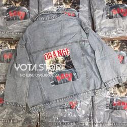 Áo khoác jeans hình lưng - HG04
