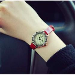 Đồng hồ nữ, đồng hồ thời trang nữ ulzzang kiểu dáng mặt tròn dễ thương