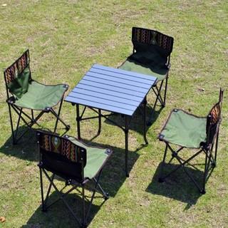 Bộ bàn ghế nhôm xếp gọn 4 ghế - Loại mới nhất thumbnail