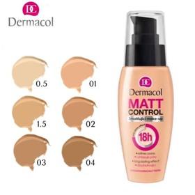 Kem Nền Kiềm Dầu Dermacol Matt Control 18h Make-Up 30ml - nền kiềm dầu 18h
