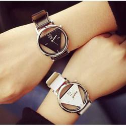 Đồng hồ nữ, đồng hồ tam giác harajuku hai mặt rỗng