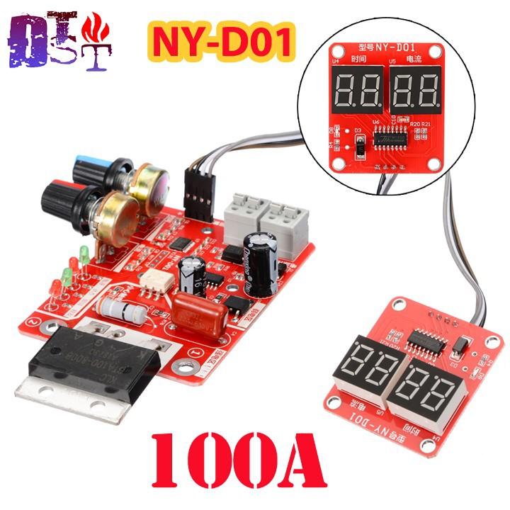 Mạch timer điều chỉnh dòng áp  NY-D01 100A  máy hàn cell pin, máy hàn điểm có màn hình hiển thị