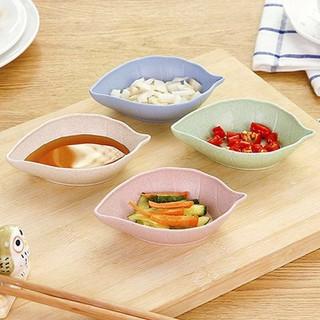Bộ 2 đĩa đựng gia vị bằng lúa mạch nhiều màu - DGLM-1 thumbnail