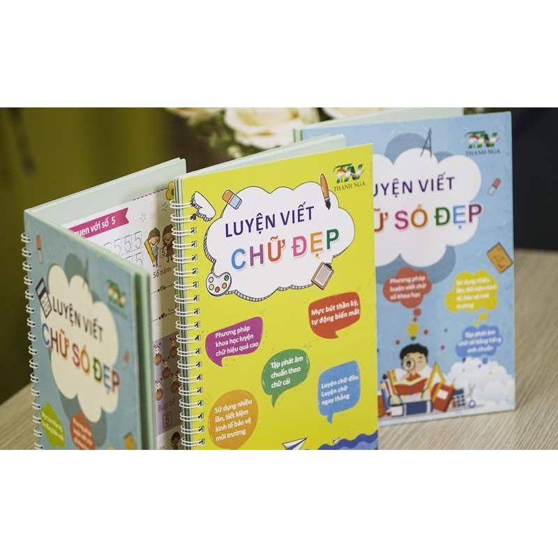 Bộ 2 sách tập tô tự xóa tặng kèm 2 bút – Vở tự xóa