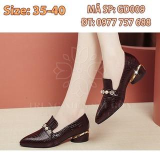 Giày nữ trung niên đế thấp ngoại cỡ cao cấp sang trọng cho mẹ u50 GD009 [ĐƯỢC KIỂM HÀNG] 31378283 - 31378283 thumbnail