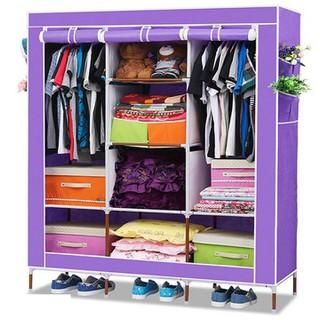 Tủ vải 3 buồng 8 ngăn khung hợp kim - TỦ QUẦN ÁO. thumbnail