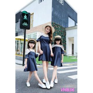 Mẹ Bé Set đầm xòe phối ren Mẹ và Bé VMB36 - VMB36 thumbnail