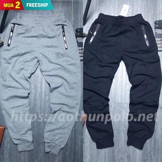 Quần jogger thể thao 2 túi kéo khoá vải da cá hàng cực đẹp - Được kiểm tra hàng - QJ2T021 thumbnail