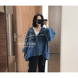 Áo khoác jeans có mũ - AB61B