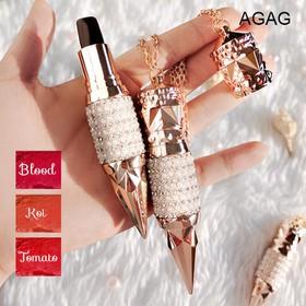 Son môi 3 màu AGAG son lì dưỡng ẩm lâu trôi son 3 màu son thỏi giữ ẩm son nội địa Trung son đẹp - JS-SM19