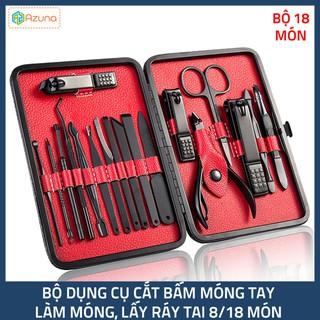 Bộ dụng cụ bấm móng tay 8-18 món - Dụng cụ cắt móng, làm móng, lấy ráy tai, mụn tiện dụng - HLDCCM thumbnail