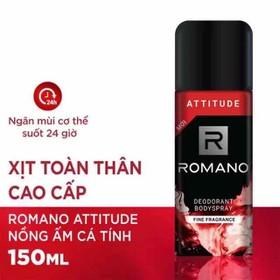 Xịt khử mùi toàn thân Romano Attitude 150 mL date 2023 - XKM120-0