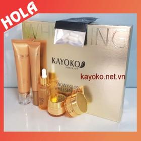 Bộ mỹ phẩm trị nám Kayoko Vàng 5in1, mỹ phẩm dưỡng trắng da và chuyên trị nám tàn nhang, kem trị nám Kayoko. - BỘ KAYOKO VÀNG