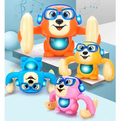 Khỉ đồ chơi cảm ứng âm thanh nhào lộn có đèn nhạc