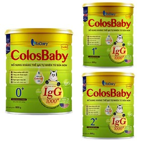 Sữa Non Vitadairy Colosbaby gold 0_ 1_ 2 800g IgG 1000+(Date 3.2022) - scloo800