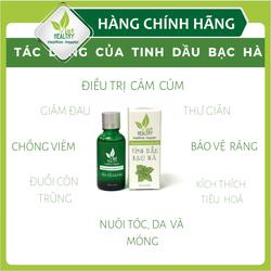 Tinh dầu bạc hà Viet Heatlhy 30ml, tinh dầu bạc hà Viethealthy chắm sóc răng miệng, kháng viêm, kháng khuẩn, phòng ngừa cảm cúm, nhức đầu, viêm mũi, say tàu xe..