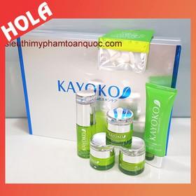 Bộ mỹ phẩm trị nám Kayoko 5in1, kem mỹ phẩm dưỡng trắng da, chuyên trị nám và tàn nhang, mỹ phẩm trị nám, Kayoko. - KAYOKO xanh 5in1
