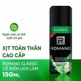 Xịt khử mùi toàn thân Romano classic date 2023 - XKM40