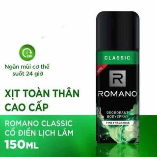 Xịt khử mùi toàn thân Romano classic date 2023 - XKM40 thumbnail
