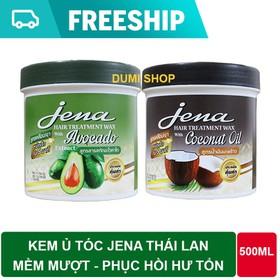 Combo 2 hũ Kem ủ tóc bơ - dừa Jena Thái Lan 500ml mềm mượt phục hồi hư tổn - 2JENA