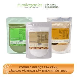 Combo 3 Gói Bột Trà Xanh, Cám Gạo Và Khoai Tây Thiên Nhiên MILAGANICS (100g gói) - TUMIL0019SG thumbnail