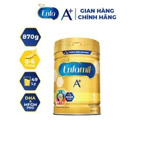 Chính hãng- Sữa bột Enfamil A+ 1 cho bé 0-6 tháng, lon 870g, date mới 2022 - S1 870g