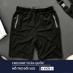 Quần short nam lưng thun phối túi khóa kéo thể thao nam cao cấp-Cho Xem Hàng