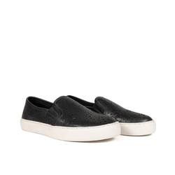 Giày slip on nữ, giày bệt da bò thật 100% cao cấp Kaleea VNXK siêu nhẹ QHK1924
