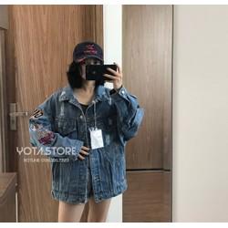Áo khoác jeans thêu hình - AJ052
