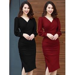 Đầm ôm vải Umi c giãn cao cấp 40-60kg