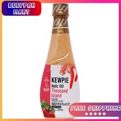 Nước xốt Thousand Island Kewpie chai 210ml - KEWPIE - NƯỚC SỐT SALAD - NƯỚC TRỘN SALAD  - NƯỚC CHẤM THỊT