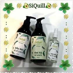 Bộ 3 Sản Phẩm Chăm Sóc Tóc Organic SiQuill - Tinh Dầu Bưởi, Dầu Gội Bồ Kết Bưởi, Gel Xả Bơ Bưởi - ngăn ngừa rụng tóc & kích thích mọc tóc