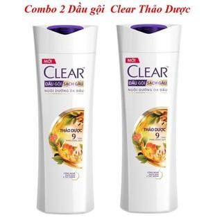 Freeship - Combo 2 chai dầu gội Clear Thảo Dược 140g - Clear thumbnail